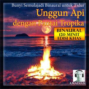 Bunyi Semulajadi Binaural untuk Tidur: Unggun Api dengan Pantai Tropika: 120 Minit Edisi Khas