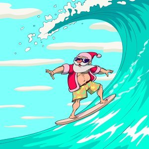 Surfin' with Santa