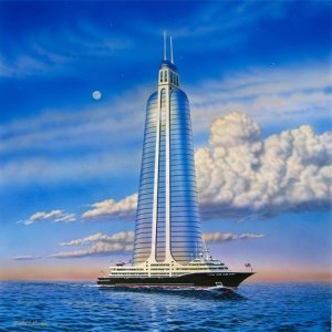 Skyscraper on a Megayacht