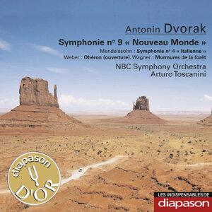 """Dvořák: Symphonie No. 9 """"Nouveau Monde"""" - Mendelssohn: Symphonie No. 4 """"Italienne"""" - Weber: Obéron (Ouverture) - Wagner: Murmures de la forêt (Les indispensables de Diapason)"""