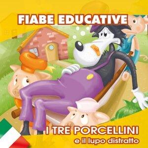 I tre porcellini e il lupo distratto - Fiabe educative in italiano