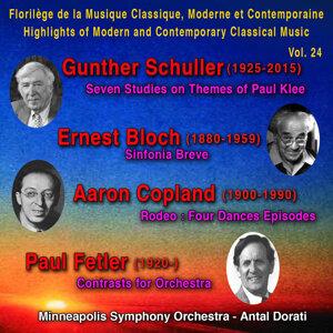 Gunther Schuller, Ernest Bloch, Aaron Copland, Paul Fetler - Florilège de la Musique Classique, Moderne et Contemporaine - Hihlights of Modern and Contemporary Classical Music Vol. 24