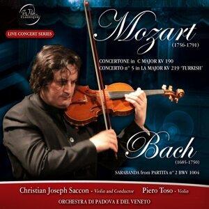 Mozart and Bach: Concertone, Concerto e sarabanda