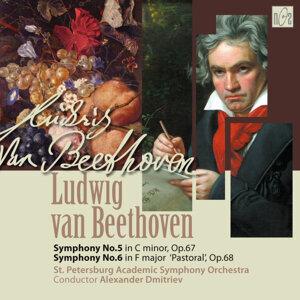 Ludwig van Beethoven. Symphony No.5 in C Minor, op.67. Symphony No.6 in F Major 'Pastoral', op.68