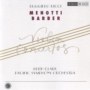 Menotti & Barber: Violin Concertos