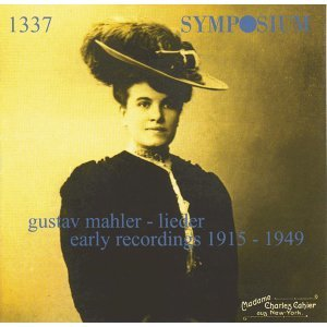 Mahler: Lieder, Early Recordings (1915-1949)