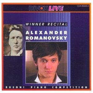 Piano Recital: Romanovsky, Alexander - Bach, J.S. / Haydn, J. / Chopin / Liszt / Prokofiev / Ligeti, G.