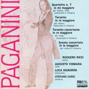 Paganini: Quartetto No. 7 - Terzetto in re maggiore - Terzetto concertante in re maggiore - Sonata concertata in la maggiore