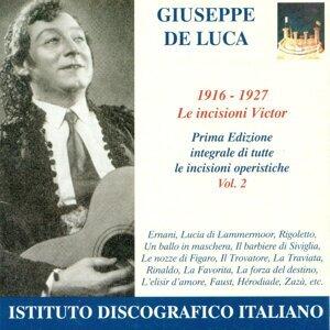 Opera Arias (Baritone): Luca, Giuseppe De - Verdi, G. / Donizetti, G. / Rossini, G. / Mozart, W.A. (The Victor Recordings, Vol. 2) (1916-1927)