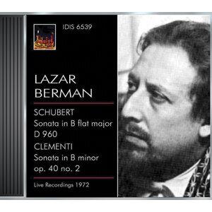 Schubert, F.: Piano Sonata No. 21 / Clementi, M.: Piano Sonata, Op. 40, No. 2 (Berman) (1972)