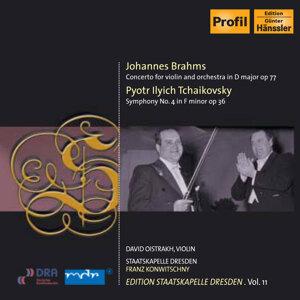 Brahms, J.: Violin Concerto / Tchaikovsky, P.I.: Symphony No. 4 (I. Oistrakh, Konwitschny)  (1953-54) (Staatskapelle Dresden Edition, Vol. 11)
