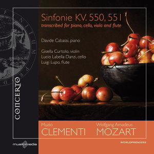 Mozart: Sinfonie KV. 550, 551 - transcribed for piano, cello, viola and flute