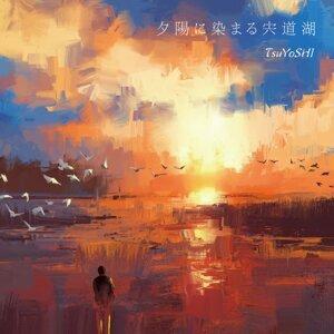 夕陽に染まる宍道湖