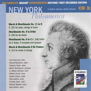 The Complete Mozart Divertimentos Historic First Recorded Edition CD 3