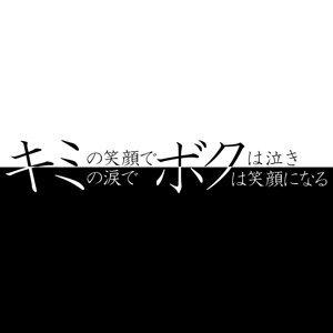 「キミの笑顔でボクは泣き、キミの涙でボクは笑顔になる」 (kimiboku)