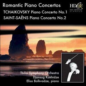 Great Romantic Piano Concertos - Tchaikovsky : Piano Concerto No.1 in B-Flat Minor, Op.23 ; Saint-Saëns : Piano Concerto No.2 in G Minor, Op.22