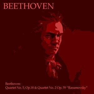 """Beethoven: Quartet No. 5, Op. 18 & Quartet No. 2,Op. 59 """"Rasumovsky"""""""