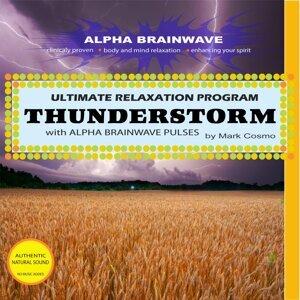 Thunderstorm With Alpha Brainwave Pulses