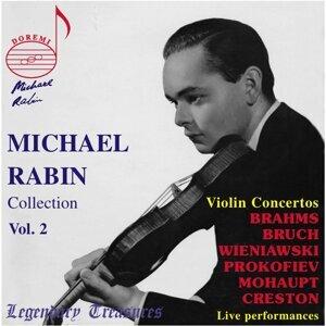 Michael Rabin, Vol. 2: 6 Violin Concertos (Live)