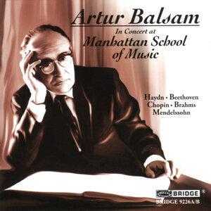 Artur Balsam in Concert at the Manhattan School of Music