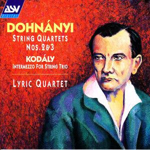 Dohnányi: String Quartets Nos. 2 and 3 / Kodály: Intermezzo for String Trio