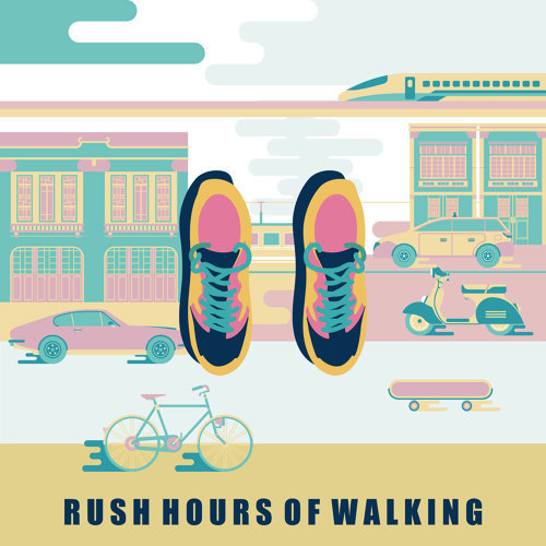通勤人.走路:Rush Hours of Walking