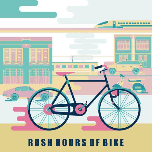 通勤人.腳踏車:Rush Hours of Bike