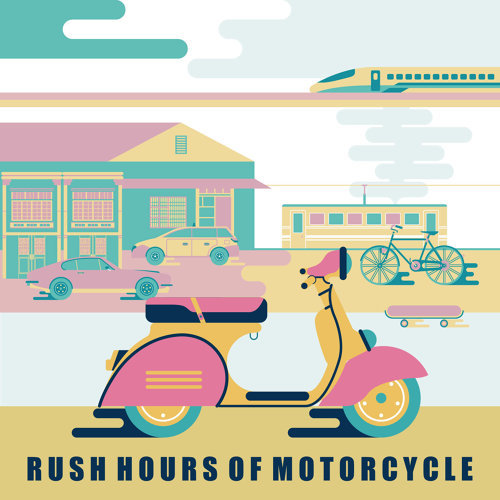 通勤人.機車:Rush Hours of Motorcycle