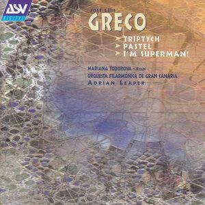 Greco: Triptych; Pastel; I'm Superman!