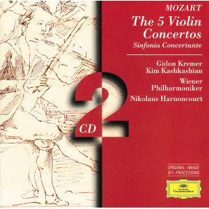 Mozart: The 5 Violin Concertos; Sinfonia Concertante - 2 CD's