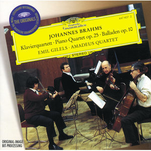 Brahms: Quartet No.1 In G Minor, Op.25; 4 Ballades, Op. 10