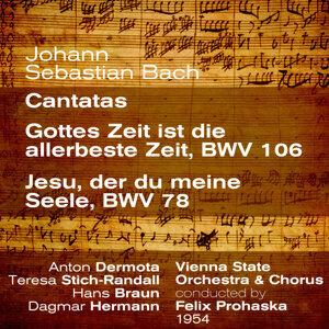 Johann Sebastian Bach : Cantatas ; Gottes Zeit ist die allerbeste Zeit, BWV 106 / Jesu, der du meine Seele, BWV 78 (1954)