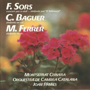 """Sors: Concert per a Violí Simfonia per """"Il Telèmaco"""" - Ferrer: Simfonia en Re - Baguer: Simfonia en Sol"""
