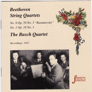 "Beethoven: String Quartet No. 1 in F & No. 9 in C ""Rasumovsky"""