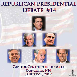 Republican Presidential Debate #14 - Capitol Center For The Arts, Concord, NH (January 8, 2012)
