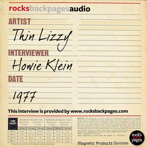 Thin Lizzy Interviewed by Howie Klein