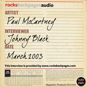 Paul McCartney Interviewed by Johnny Black