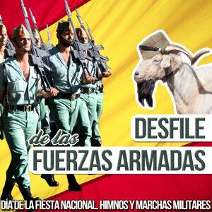 Desfile de las Fuerzas Armadas. Día de la Fiesta Nacional. Himnos y Marchas Militares