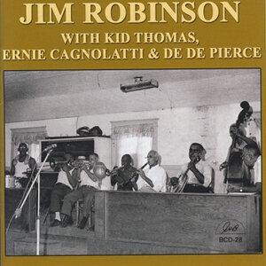 Jim Robinson with Kid Thomas, Ernie Cagnolatti & De De Pierce