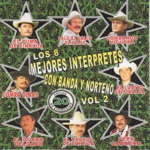 Los 8 Mejores Interpretes Con Banda y Norteno 20 Exitos de Coleccion