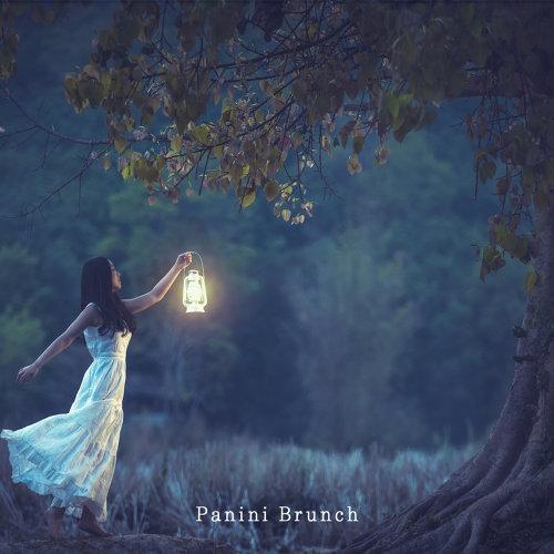 Autumn Night Street Lamp