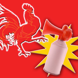 Rooster vs Airhorn
