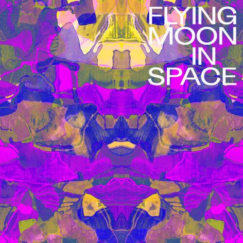 Flying Moon In Space
