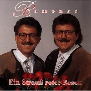 Ein Strauss roter Rosen