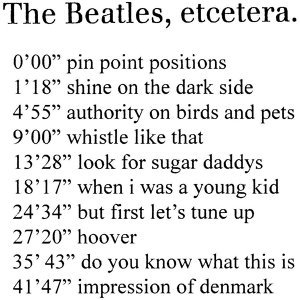 The Beatles etcetera