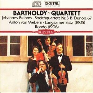 Johannes Brahms: Streichquartett Nr.3, B-Dur, Op. 67 / Anton von Webern: Rondo [1906] - Langsamer Satz [1905]