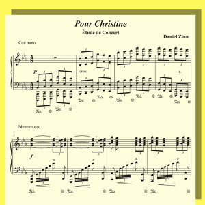 Pour Christine - Étude de Concert