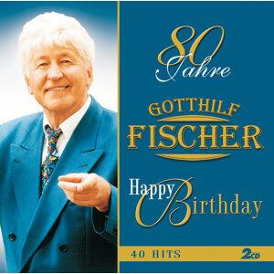 80 Jahre - Happy Birthday - SET