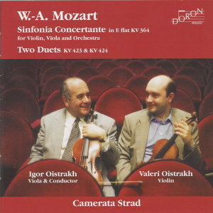 Mozart: Sinfonia Concertante, K. 364 - Duo in G Major, K. 423 - Duo in B-Flat Major, K. 424