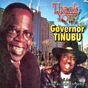 Thank You from Governor Tinubu